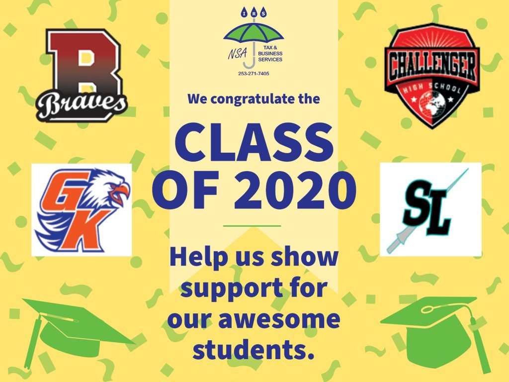2020 Graduates fund photo for bethel school district. More than tax and business services.